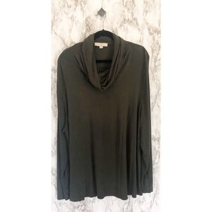 Loft• dark Olive green cowl neck sweater✨